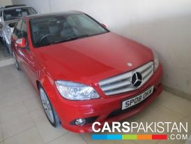 2008, Red Mercedes Benz C Class (Petrol ) For Sale, Lahore, By: Asif Raja  (Private Seller)